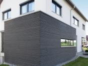 Holzfassade. Sibirische-Lärche, schiefergrau, Trendliner-Kontrast-Kompakt (Ladenburger)