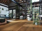 Gehärteter Holzboden, Eiche, authentic-dry-wood, gebürstet, naturgeölt