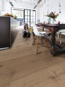 Gehärteter Holzboden, Eiche, authentic-greige, gebürstet, naturgeölt