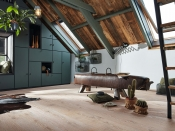 Gehärteter Holzboden, Eiche, authentic-white-washed, gebürstet, naturgeölt