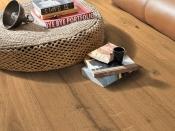 Gehärteter Holzboden, Eiche, rustikal, gebürstet, naturgeölt