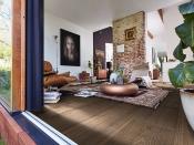 Gehärteter Holzboden, Eiche, rustikal, Vintage-Struktur, naturgeölt