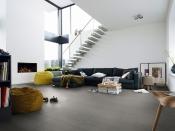 Gehärteter Holzboden, betongrau