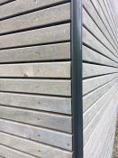 Holzfassade, heimische Weißtanne, sägerau, Rhombusprofil (Häussermann)
