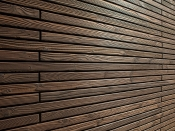 Holzfassade, Douglasie, geflammt, Carboset (MocoPinus)