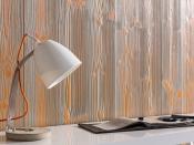 Wandverkleidung aus Holz, Mixcapp-gelborange-hellgrau (MocoPinus)