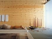 Wandverkleidung aus Holz, Zirbel-Kiefer, gebürstet-natur-geölt (Mafi)